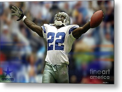 Emmitt Smith, Number 22, Running Back, Dallas Cowboys Metal Print