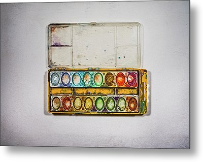 Empty Watercolor Paint Trays Metal Print