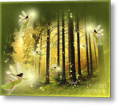 Metal Print featuring the digital art Enchanted Forest - Fantasy Art By Giada Rossi by Giada Rossi