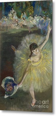 End Of An Arabesque Metal Print by Edgar Degas