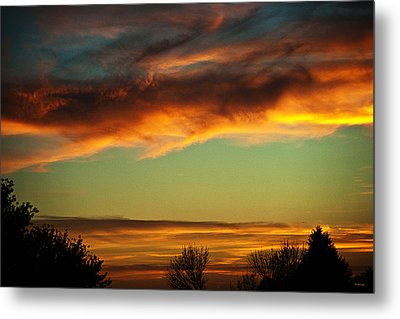 End Of Day Metal Print by Edward Peterson