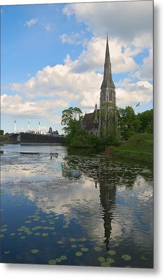 Metal Print featuring the photograph English Church In Copenhagen by Steven Richman