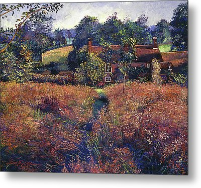 English Country Fields Metal Print by David Lloyd Glover