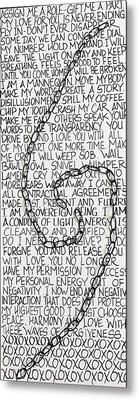 Entanglement Metal Print by Jessica Leigh