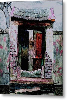 Entrance Gate Metal Print by Merton Allen