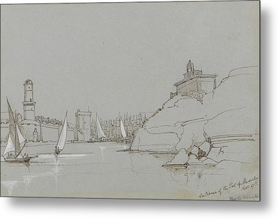 Entrance To The Port Of Marseilles Metal Print