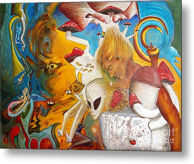 Entre Dos Mundos - Between Two Worlds Metal Print by Raul Morales