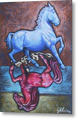 Equus Metal Print by Jennifer Bonset
