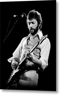 Metal Print featuring the photograph Eric Clapton 1977 Bo 2 by Chris Walter