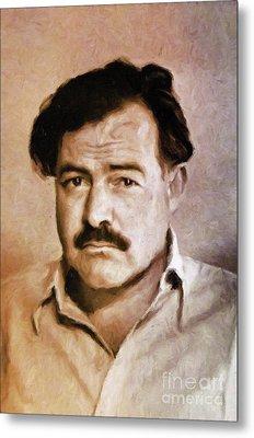 Ernest Hemingway, Literary Legend By Mary Bassett Metal Print