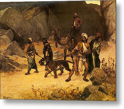 Ernst Rudolf The Tiger Hunt Metal Print