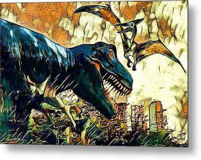 Escape From Jurassic Park Metal Print