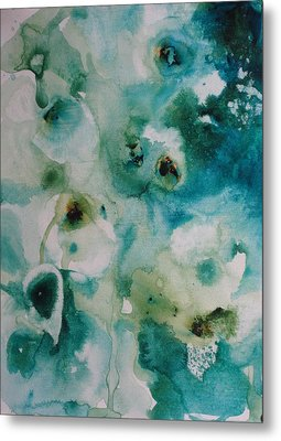 Metal Print featuring the painting Essence Of Flower by Elizabeth Carr