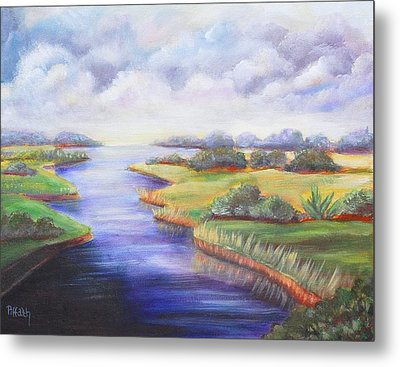 Metal Print featuring the painting Estuary by Patricia Piffath