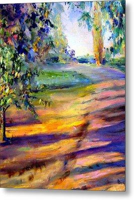Eucalyptus At Sunset Metal Print by Kathy Dueker