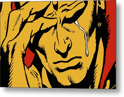 Even An Android Can Cry Metal Print by Brian Middleton