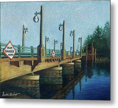 Evening, Bayville Bridge Metal Print by Susan Herbst