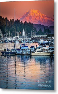 Evening In Gig Harbor Metal Print by Inge Johnsson