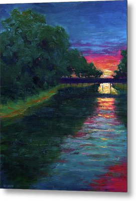 Evening, Lagan Lake Reflections Metal Print by Vernon Reinike