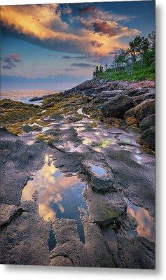 Evening Reflection, Bristol, Maine Metal Print