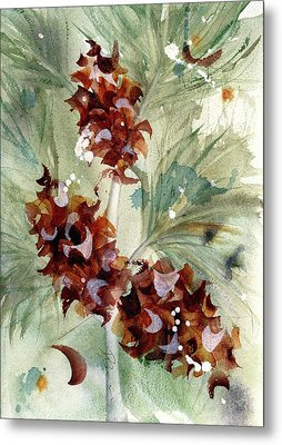 Metal Print featuring the painting Evergreen Branch by Dawn Derman