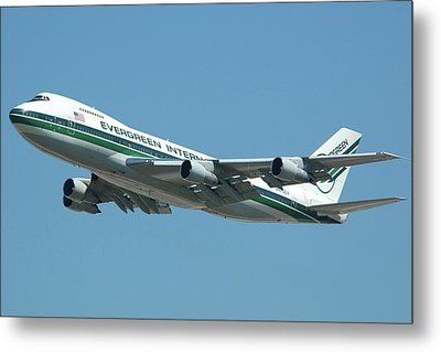 Evergreen International 747-273c N470ev At San Bernardino May 31 2006 Metal Print by Brian Lockett
