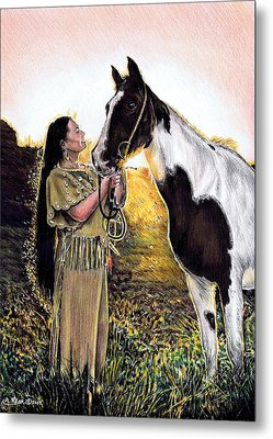 Everlasting Love A Maiden And Spot Metal Print by Andrew Read