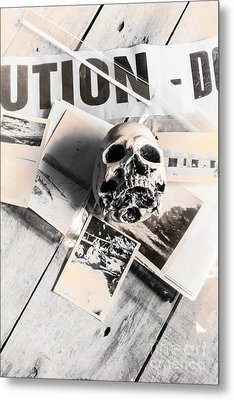 Evidence Of Old Crimes Metal Print by Jorgo Photography - Wall Art Gallery