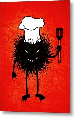 Evil Bug Chef Loves To Cook Metal Print by Boriana Giormova