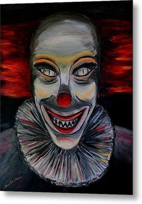 Evil Clown Metal Print by Daniel W Green
