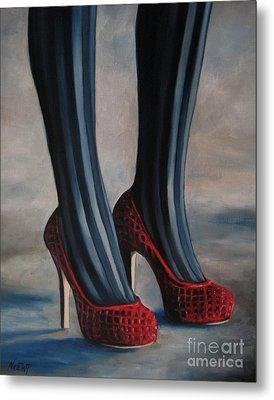 Evil Shoes Metal Print by Jindra Noewi
