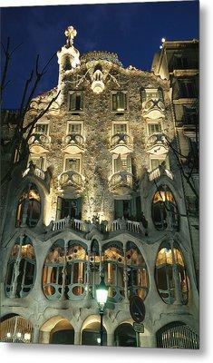 Exterior View Of An Antoni Gaudi Metal Print by Richard Nowitz