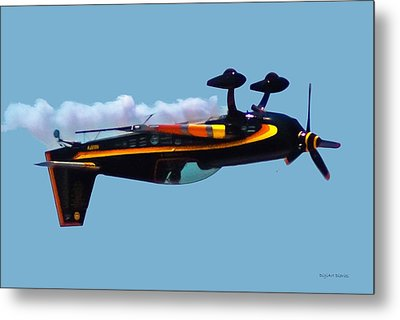 Extra 300s Stunt Plane Metal Print by DigiArt Diaries by Vicky B Fuller