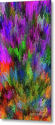 Metal Print featuring the digital art Extruded City Of Color By Kaye Menner by Kaye Menner