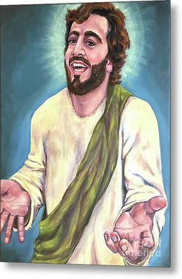 Exulted-laughing Jesus  Metal Print by Laura Napoli