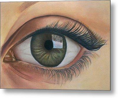 Eye - The Window Of The Soul Metal Print by Vishvesh Tadsare