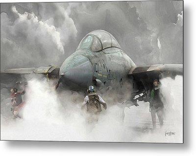 F-14 Smokin' Hot Metal Print