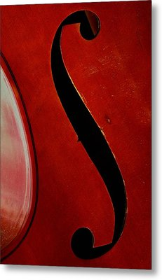 Metal Print featuring the photograph F Hole by Chris Berry