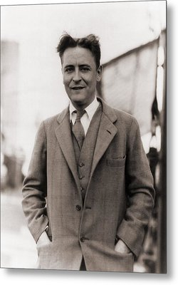 F. Scott Fitzgerald, 1896-1940 In 1928 Metal Print by Everett