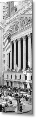 Facade Of New York Stock Exchange, Manhattan, New York City, New York State, Usa Metal Print