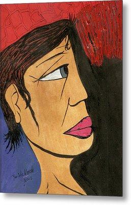 Face 2 Metal Print by Umesh U V