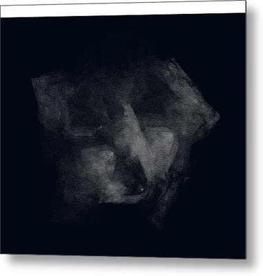 Face In Dark Mood Metal Print by Viktor Savchenko