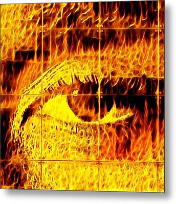 Face The Fire Metal Print