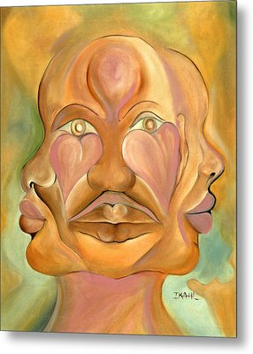 Faces Of Copulation Metal Print by Ikahl Beckford