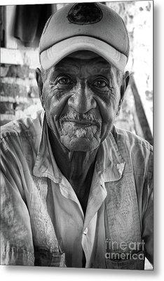 Faces Of Cuba The Gentleman Metal Print