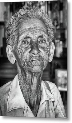 Faces Of Cuba The Woman In Need Metal Print