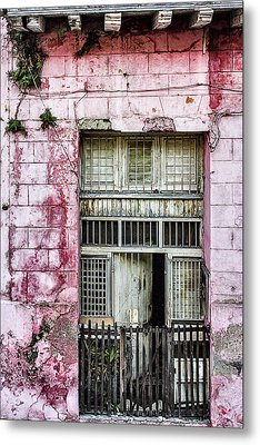 Faded Rouge Metal Print by Dawn Currie