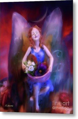 Fairy Of The Garden Metal Print by Joseph J Stevens