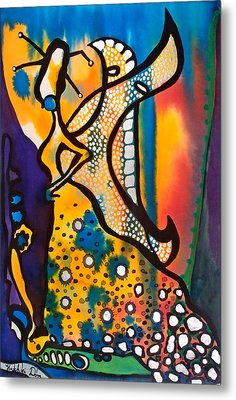Metal Print featuring the painting Fairy Queen - Art By Dora Hathazi Mendes by Dora Hathazi Mendes