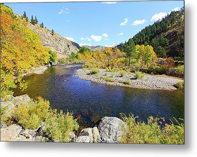 Fall Colors On The Poudre Metal Print